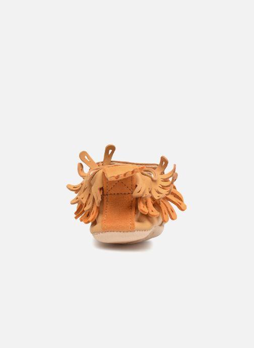 Pantofole Easy Peasy Frangette Marrone immagine destra