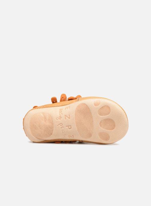 Pantofole Easy Peasy Frangette Marrone immagine dall'alto