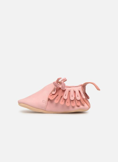 Chaussons Easy Peasy Frangette Rose vue face