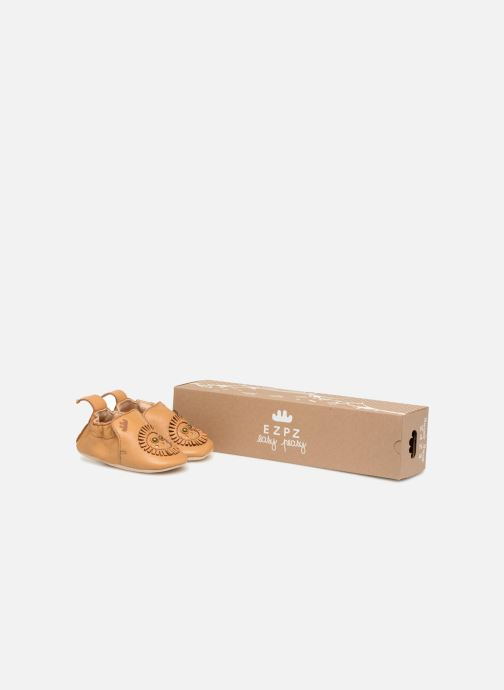 Slippers Easy Peasy Blumoo Lion Brown detailed view/ Pair view