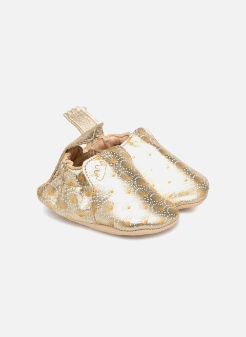 Pantuflas Easy Peasy Blumoo Palmette Oro y bronce vista 3/4