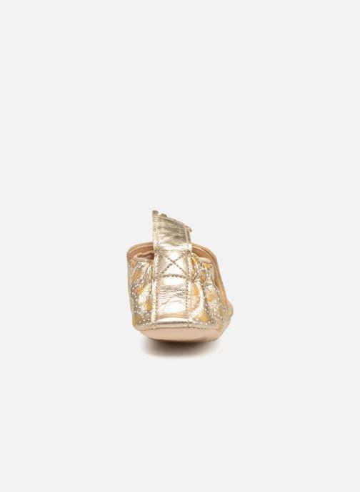 Pantuflas Easy Peasy Blumoo Palmette Oro y bronce vista lateral derecha