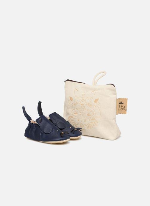 Hjemmesko Easy Peasy Blublu Patin Mouse Blå detaljeret billede af skoene