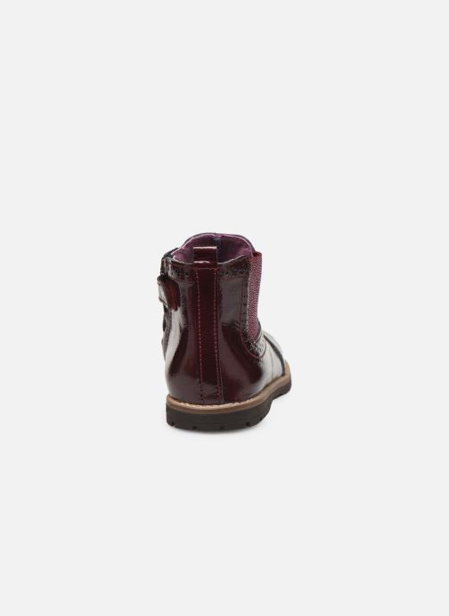 Botines  Little Mary Florence Vino vista lateral derecha