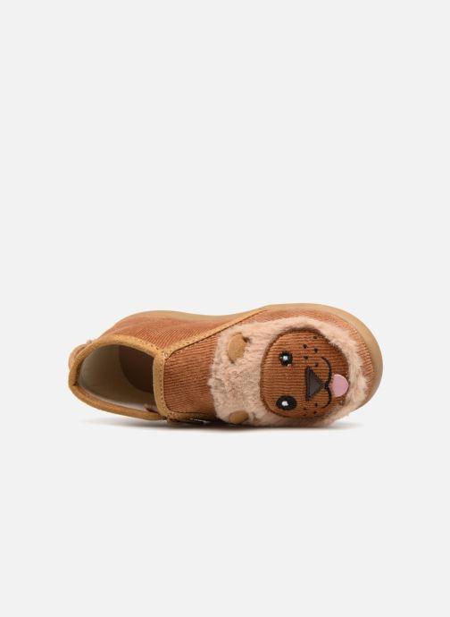 Hausschuhe Little Mary LionZip braun ansicht von links