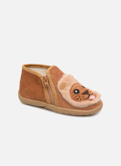 Hjemmesko Little Mary LionZip Brun detaljeret billede af skoene