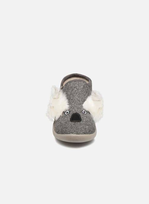 Chaussons Little Mary KoalaZip Gris vue portées chaussures