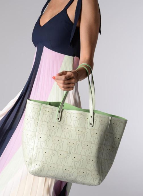 Handbags Paul & Joe Sister HARONE Green view from underneath / model view