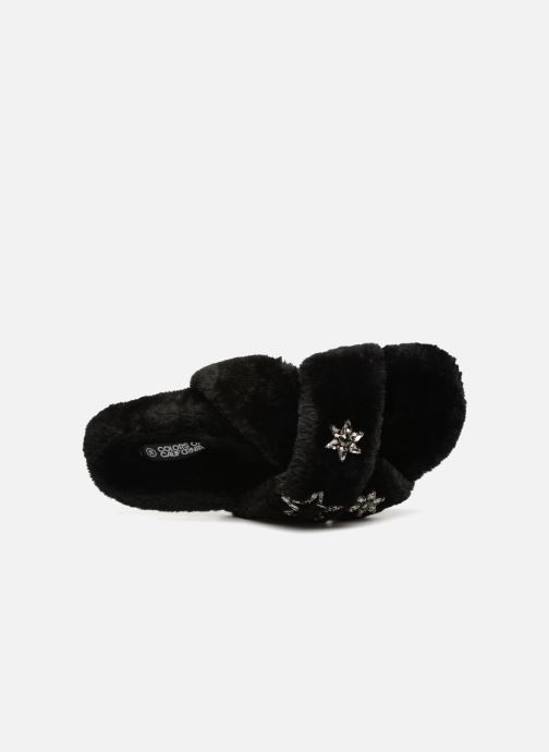 Slippers Colors of California Sabrina Black view from the left