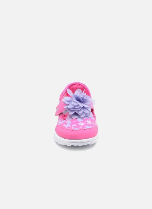 Baskets Skechers GO WALK 4 BITTY BLOOMS Rose vue portées chaussures