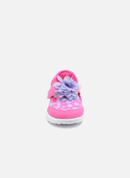 Baskets Skechers GO WALK 4 BITTY BLOOMS Rose vue portées chaussures