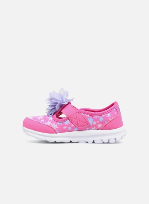 Trainers Skechers GO WALK 4 BITTY BLOOMS Pink front view