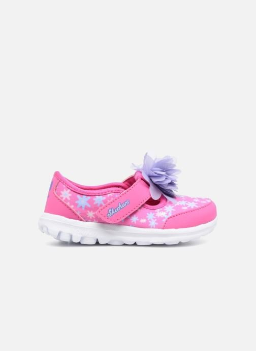 Trainers Skechers GO WALK 4 BITTY BLOOMS Pink back view