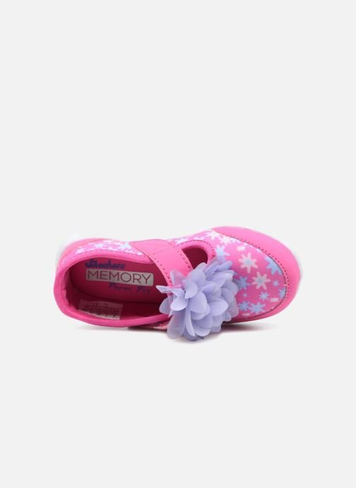 Trainers Skechers GO WALK 4 BITTY BLOOMS Pink view from the left