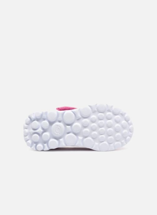 Trainers Skechers GO WALK 4 BITTY BLOOMS Pink view from above