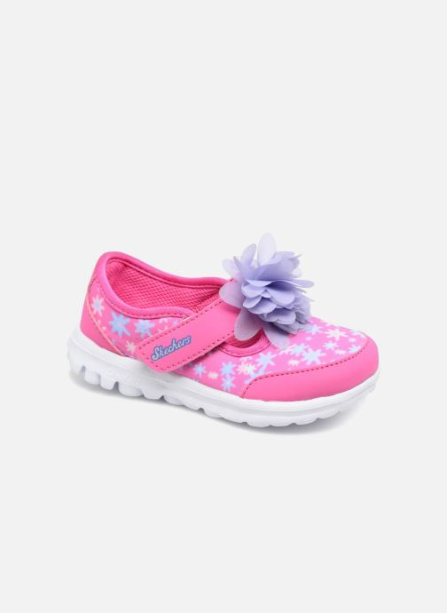 Trainers Skechers GO WALK 4 BITTY BLOOMS Pink detailed view/ Pair view