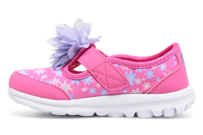 Sneakers Skechers GO WALK 4 BITTY BLOOMS Rosa immagine frontale
