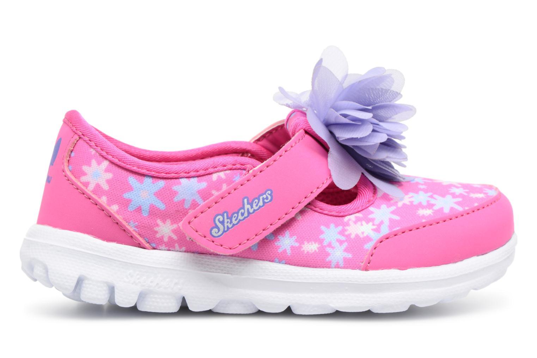 Sneakers Skechers GO WALK 4 BITTY BLOOMS Rosa immagine posteriore