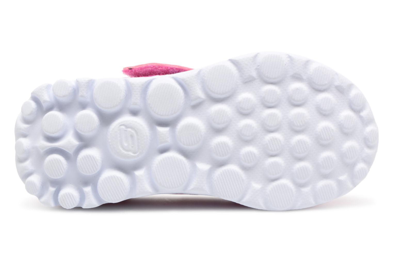 Sneakers Skechers GO WALK 4 BITTY BLOOMS Rosa immagine dall'alto