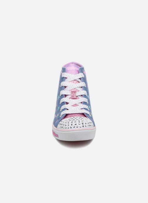 Baskets Skechers SPARKLE GLITZ SHINY STARZ Violet vue portées chaussures