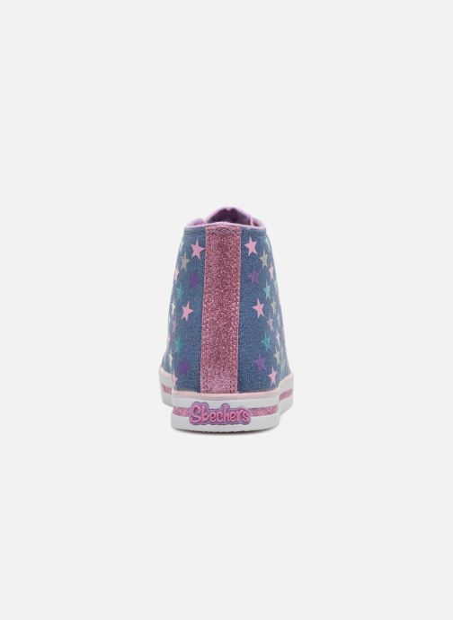 Trainers Skechers SPARKLE GLITZ SHINY STARZ Purple view from the right
