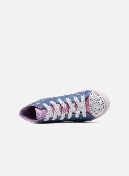 Baskets Skechers SPARKLE GLITZ SHINY STARZ Violet vue gauche