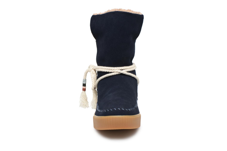 Bottes TOMS Vista Bleu vue portées chaussures