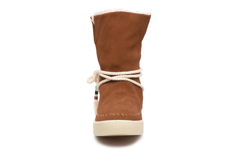 Bottes TOMS Vista Marron vue portées chaussures