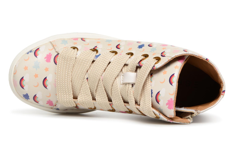 Sneaker Esprit Cherry Rainbow Bootie weiß ansicht von links