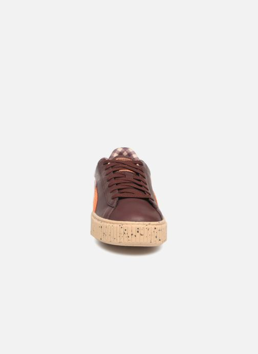 Sneaker Puma PUMA x TC Basket Platform LDN Jr braun schuhe getragen