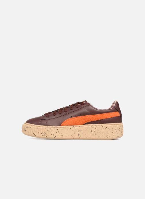 Sneaker Puma PUMA x TC Basket Platform LDN Jr braun ansicht von vorne