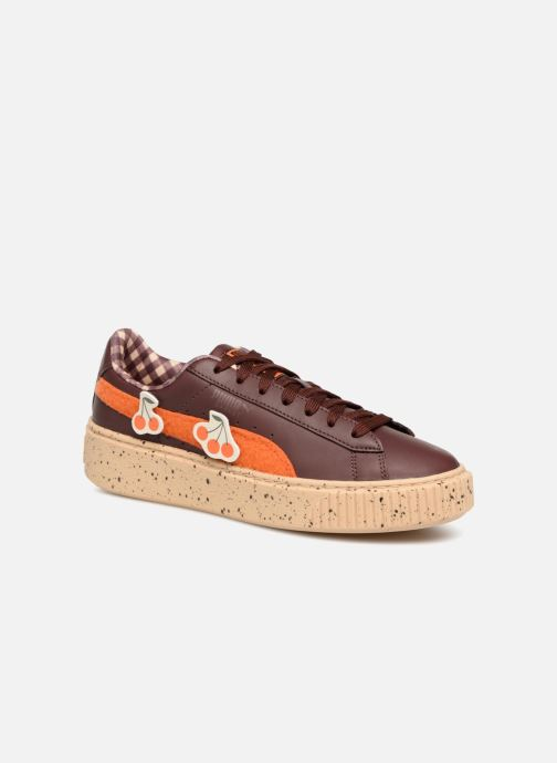 Trainers Puma PUMA x TC Basket Platform LDN Jr Brown detailed view/ Pair view