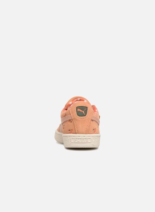 Baskets Puma PUMA x TC Suede LDN Jr Orange vue droite