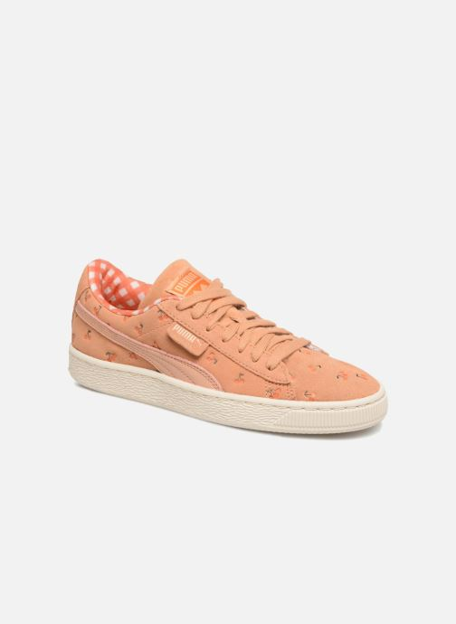 Baskets Puma PUMA x TC Suede LDN Jr Orange vue détail/paire