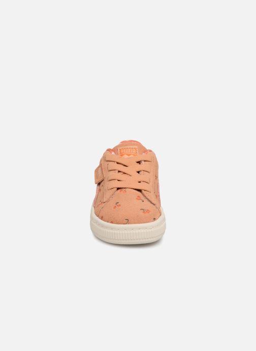 Baskets Puma PUMA x TC Suede LDN AC Inf Orange vue portées chaussures