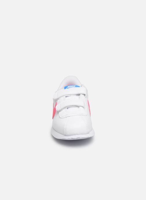 Baskets Nike Cortez Basic Sl (Psv) Blanc vue portées chaussures