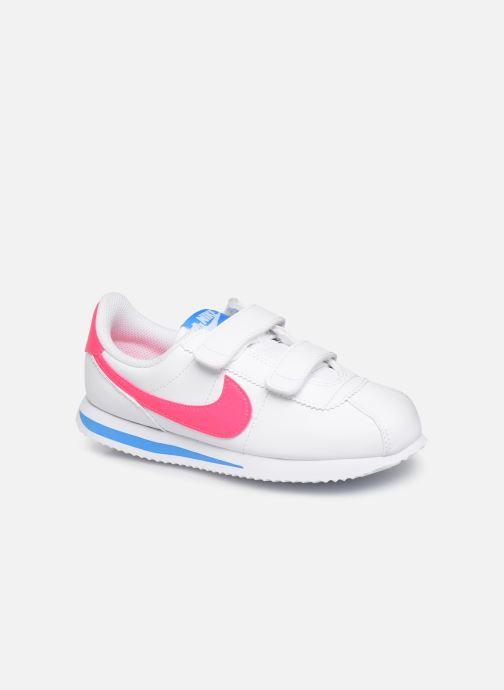 Baskets Nike Cortez Basic Sl (Psv) Blanc vue détail/paire