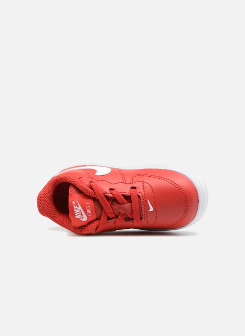 Trainers Nike Force 1 '18 (Td) Red view from the left