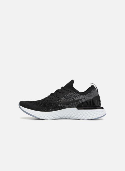 Sportschuhe Nike Nike Epic React Flyknit (Gs) schwarz ansicht von vorne