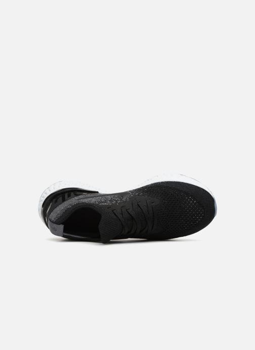 Sportschuhe Nike Nike Epic React Flyknit (Gs) schwarz ansicht von links