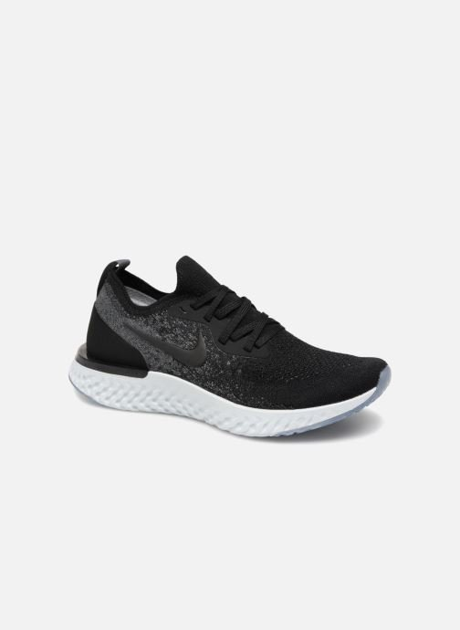 01a63a1af7552 Sport shoes Nike Nike Epic React Flyknit (Gs) Black detailed view  Pair view