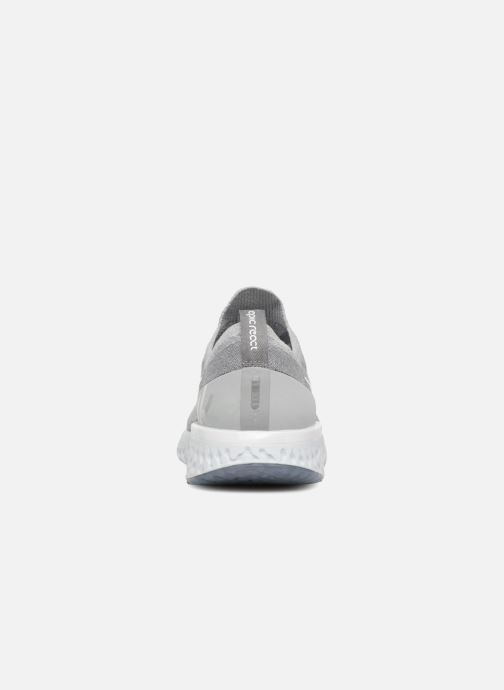 Sport shoes Nike Nike Epic React Flyknit (Gs) Grey view from the right