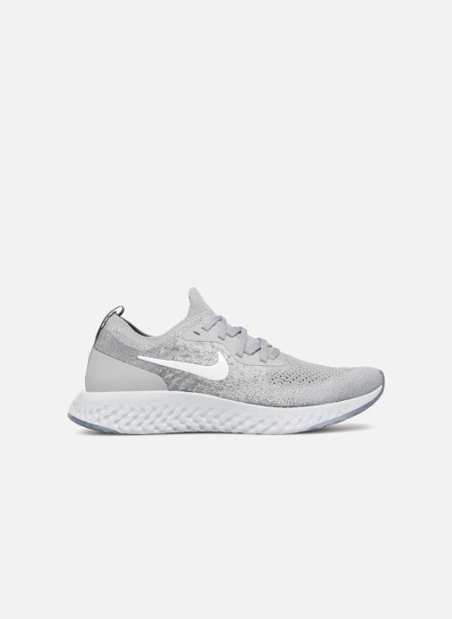 Sport shoes Nike Nike Epic React Flyknit (Gs) Grey back view