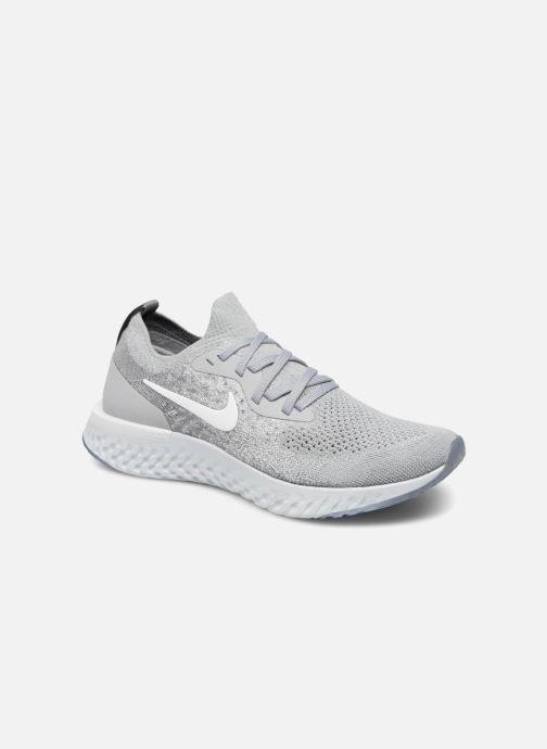 Chaussures de sport Nike Nike Epic React Flyknit (Gs) Gris vue détail/paire
