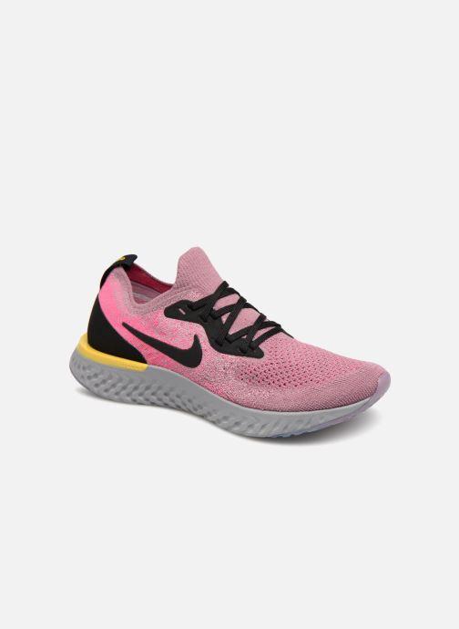 buy popular bf6d6 e0504 Chaussures de sport Nike Nike Epic React Flyknit (Gs) Gris vue détail paire