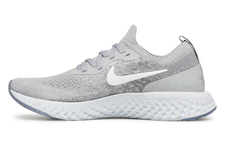 Sportschuhe Nike Nike Epic React Flyknit (Gs) grau ansicht von vorne