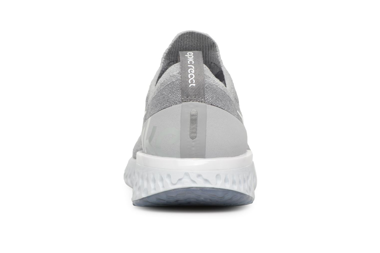 Sportschuhe Nike Nike Epic React Flyknit (Gs) grau ansicht von rechts