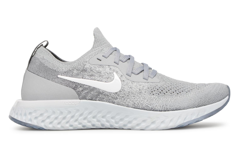 Chaussures de sport Nike Nike Epic React Flyknit (Gs) Gris vue derrière
