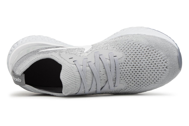 Sportschuhe Nike Nike Epic React Flyknit (Gs) grau ansicht von links