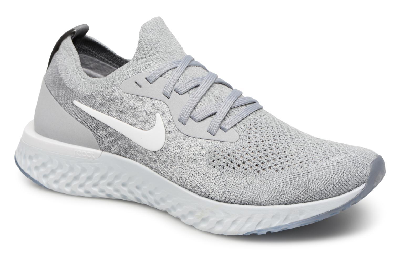 wholesale dealer 94af6 93db6 ... ireland sportssko nike nike epic react flyknit gs grå detaljeret  billede af skoene a865c 5ad50